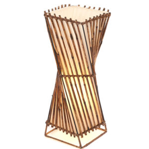 Square Twisted Rattan Flare Table Lamp - 50cm