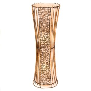 Oval Rattan & Wicker Floor Lamp - 100cm