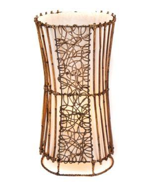 Oval Rattan & Wicker Floor Lamp - 50cm