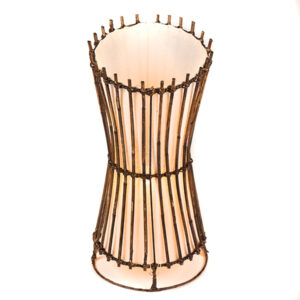 Round Rattan top cut Table Lamp - 50cm