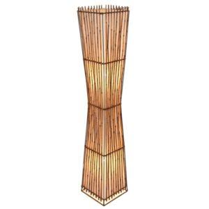 Square Plain Rattan Flare Floor Lamp - 150cm