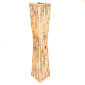 Square Plain Rattan Flare Floor Lamp - 150cm