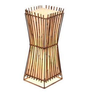 Square Plain Rattan Flare Table Lamp - 50cm