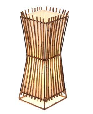 Square Plain Rattan Flare Table Lamp - 50cm