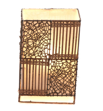 Small Squares Wicker and Rattan Table Lamp