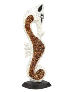 Wooden Seahorse - Gold - 60 cm