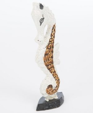 Wooden Seahorse - Gold - 30 cm