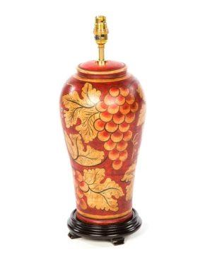 Terracotta Lamp - Red - 46cm