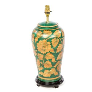 Terracotta Lamp - Green - 46cm