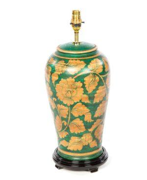 Terracotta Lamp - Green - 46cm