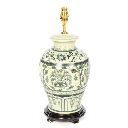 Terracotta Lamp - Cream - 42cm - Tall