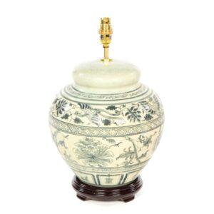 Terracotta Lamp - Cream - 42cm