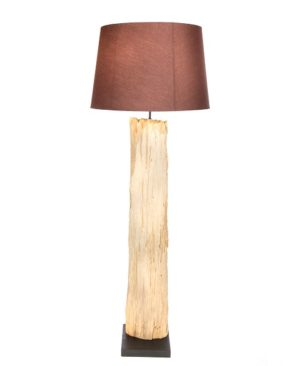 Bark Floor Lamp with Shade -125cm