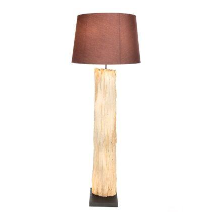 Bark Floor Lamp with Shade -125cm