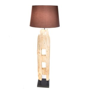 Reclaimed Fence Post Floor Lamp with Shade -125cm
