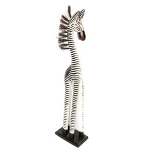 Fair Trade Wooden Standing Zebra - 60cm