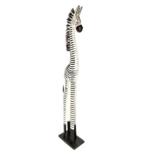 Fair Trade Wooden Standing Zebra - 100cm