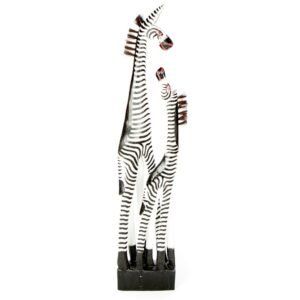 Fair Trade Wooden Zebra Family - 100cm