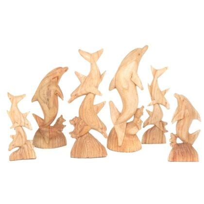 Single Wooden Dolphin - Medium 40cm