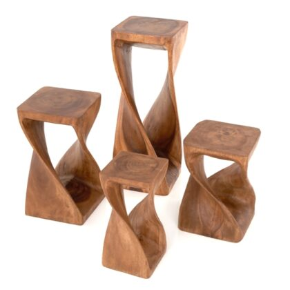 Twisted Infinity Stool - Square - Waxed - 11 x 30