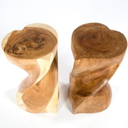 Twisted Heart Stool - Clear - 11 x 20
