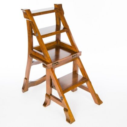 Folding Step Chair - Dark Finish