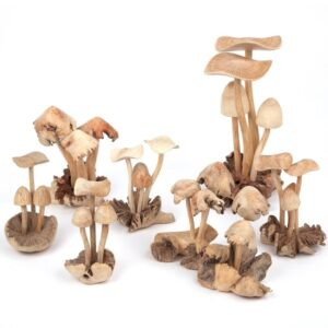 3 Mushrooms - wooden gifts