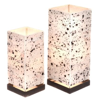 Square Mosaic Lamp - White - 30cm