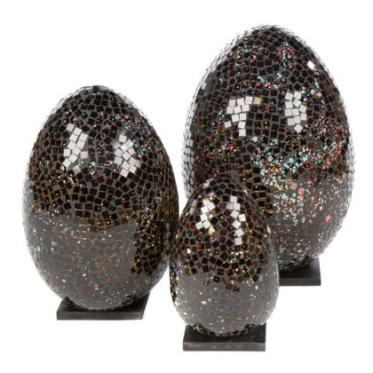 Mosaic Egg Lamp 33cm - Black