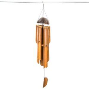 Bamboo Coconut Windchime - 40cm