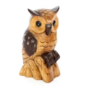 Owl on Lumber 10 inch – Waxed