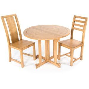 Round Folding Table - Light Finish