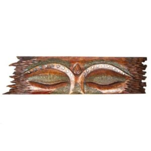 Red Buddha Eyes Wall Panel