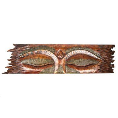 Red Buddha Eyes Wall Panel