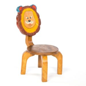 Kids Wooden Lion Chair