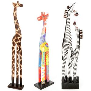 Wooden Giraffes and Zebras