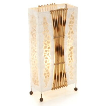 Aquarium gold shell rattan table lamp - 50cm