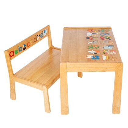 ABC Children's Bench & Table Set
