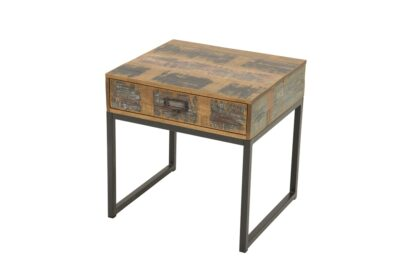 Loft Accent Table With Drawer