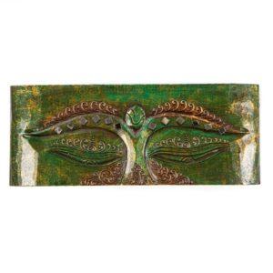 Green Buddha Eye Art Panel