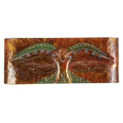 Red Buddha Eye Art Panel Wall Hanging