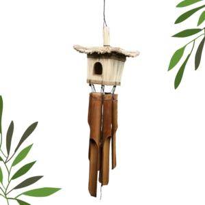 Square BirdHouse Bamboo WindChime
