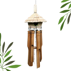 Round Birdhouse Bamboo Wind Chime
